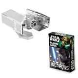 Set Naipes Star Wars + Figura Nave Darth Vader Armable