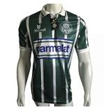 Camisa Palmeiras Listrada - Parmalat - 1993 - Retrô