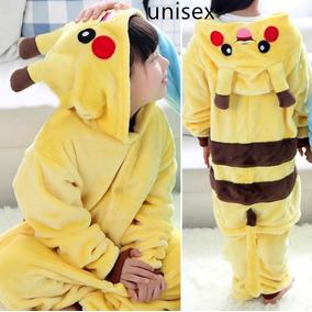 a7855d9b59 Pijama Mameluco Disfraz Cosplay Pikachu Kigurumi Niños Niñas