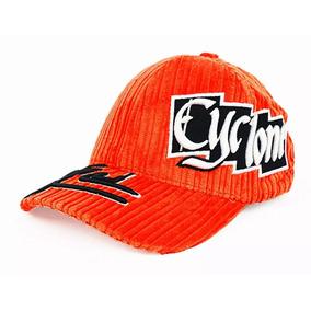 Bone Veludo Cyclone Orange Aba Curva Fecho Velcro 59506a8c14b2f