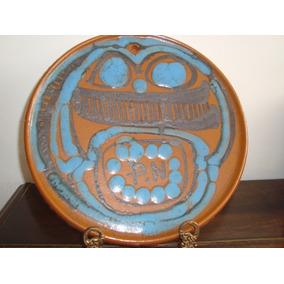 Prato Decorativo De Parede Cerâmica Decoração Vitrificada