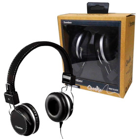 Fone De Ouvido Headphone Bomber Quake Hb02 Black Over-ear