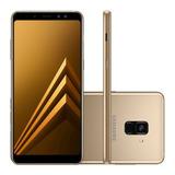 Smartphone Samsung Galaxy A8 Plus 64gb 4g Dourado Original