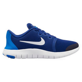 9d2f143bae7 Tenis Sneaker Nike Flex Contact Mujer Textil Azul 44228 Dtt