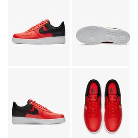 6e8ef6b7144ca Tenis Nike Air Force One Rojo Con Negro Originales Urge Ropa - Tenis ...