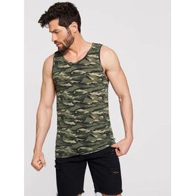 Playera Camuflajeada Camuflaje Militar Camisas Hombre