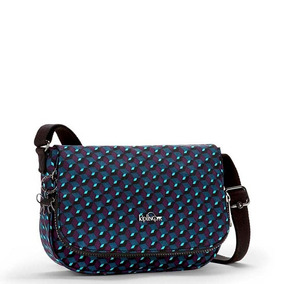 Bolsa Transversal Earthbeat M Azul Estampada Mirage Kipling