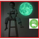 Luna Decorativa Brilla En La Oscuridad Luminosa 30 Cm Vinilo