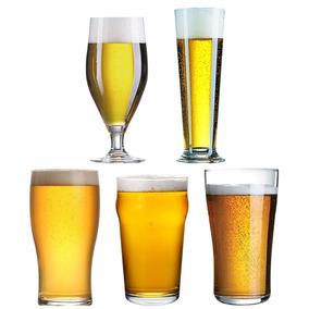Set Cervecero Arcoroc Vasos Copas Vidrio Cerveza Pinta X5u