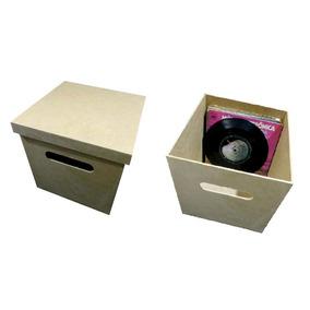 2 Caixas Para Compactos Disco Vinil 7 Polegadas Lp