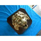8e5c8e53aa Escultura De Leão Em Madeira Maciça no Mercado Livre Brasil