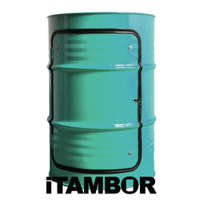 Tambor Decorativo Com Porta - Receba Em Poço Dantas