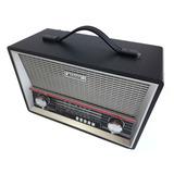 Radio Portátil Caixa De Som Em Madeira Retro Estilo Antigo!!