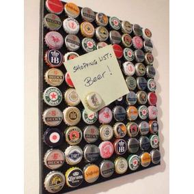 60 Tampinhas Cerveja Quadros Porta Tampinhas Gratis 60 Imãs