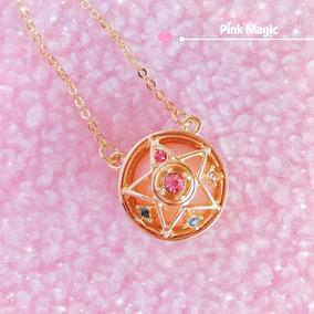 Sailor Moon Collar Y Dije Broche Transformación