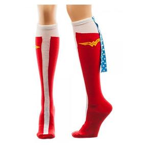 Calcetas Wonder Woman Mujer Maravilla Oficial Envío Gratis
