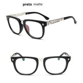Armação De Óculos P  Grau Feminino Mod Estampado Floral M3 4f2fa7a1c0