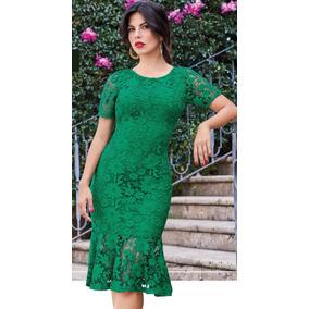 Vestido Verde De Crochet Cklass 998-00