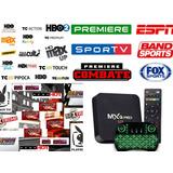 Conversor De Canais De Tv Box 4k Com Mini Teclado