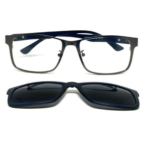 1885f86600044 Armação De Óculos Para Grau Clip On Mult Lentes Polarizado