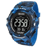 Relógio X-games Masculino Digital Xmppd489 Camuflado Azul