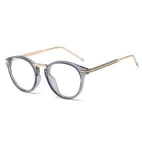 5c802211240ef Armação Para Óculos De Grau Discreto Moderno Aço Trabalhado - Óculos ...