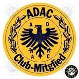 2 Adesivos Interno Adac Club Porsche Mercedes Frete Grátis
