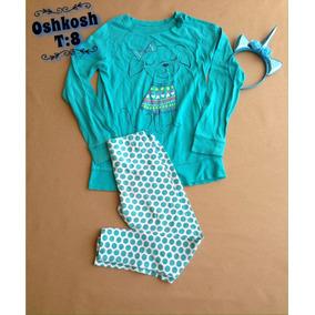 Conjunto De Niña Oshkosh Talla 8 Usado.