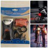 Sinalizador/lanterna Frontal E Traseira Bike