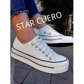 2d6452a716e0a Zapatillas Blancas Star Altas Mujer - Ropa y Accesorios en Mercado ...