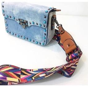 Bolsa Feminina Jeans Importada Alça Colorida Inspired 2018