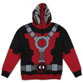 Chamarra Deadpool Traje Marvel Original Hoodie Talla L X-men