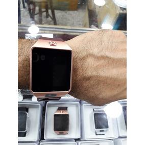 Relógio Inteligente Dz Unissex Bluethoof Wathsap Série Ouro