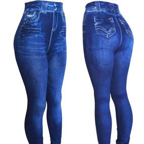 b027c5a40 Calca Legging Estampa Jeans Imita Jeans Academia Fitness!