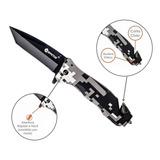Canivete Tático Invictus Phanton Militar Camuflado Digital
