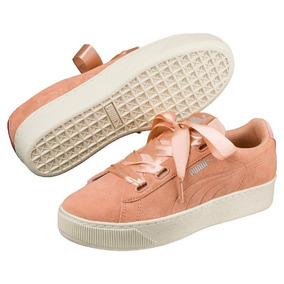 Tênis Puma Vikky Platform Ribbon Feminino - Coral