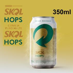 Cerveja Skol Hops Puro Malte Lata 350ml 30 Unid Frete Grátis