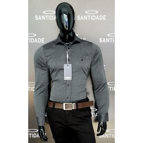 Camisa Social Masculina 100% Algodão Fio 60