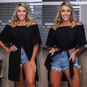 Blusa Blusão Multi-uso Ciganinha Com Manguinha Verão 2019