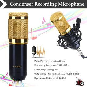 Microfone Profissional Condensador Mic Bm800 Dourado