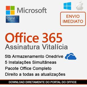 Office 365 2016/2019 Original 5tb Onedrive - Até 5 Pcs