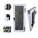 Raja De Aluminio 40x110 Vidrio Entero 4mm