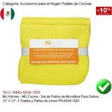 Mu Cocina Set Paños Microfibra Gofres 12 6638-1003