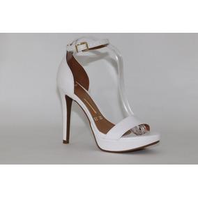 64c76f1c5 Sandalia Salto Fino Feminina - Sandálias para Feminino Branco no ...