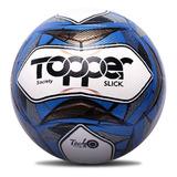 Bola De Futebol Oficial Society Topper Slick Ii Azul