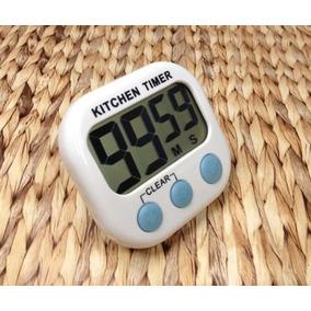 Timer Digital De Cozinha Temporizador A Pilha C/ Imã Min Seg