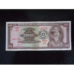 Nota Cédula 10 Cruzeiros Novos 1967 Santos Dumont Nacional 1
