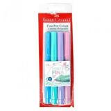 Caneta Faber Castell Fine Pen 0.4 Com 4 Cores Pastel