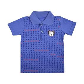 Camisa Polo Estampada Azul Tigor T.tigre Baby 10203492 972186a76ac