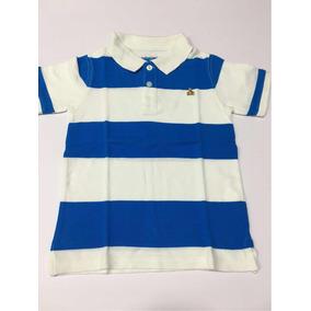 Camiseta Polo Baby Gap Listrada Azul E Branc 4 Anos Menino b80aac088be